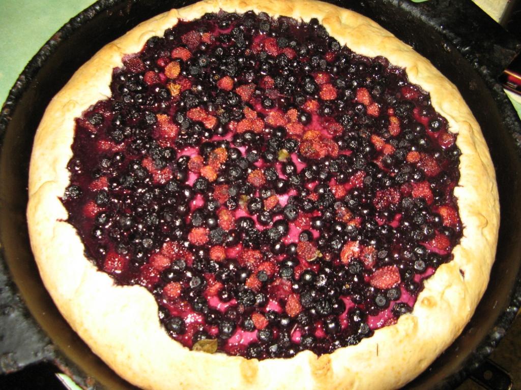 Пирог с черникой и творогом, рецепт с фото 4